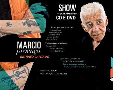 CD e DVD Márcio Proença - Retrato Cantado
