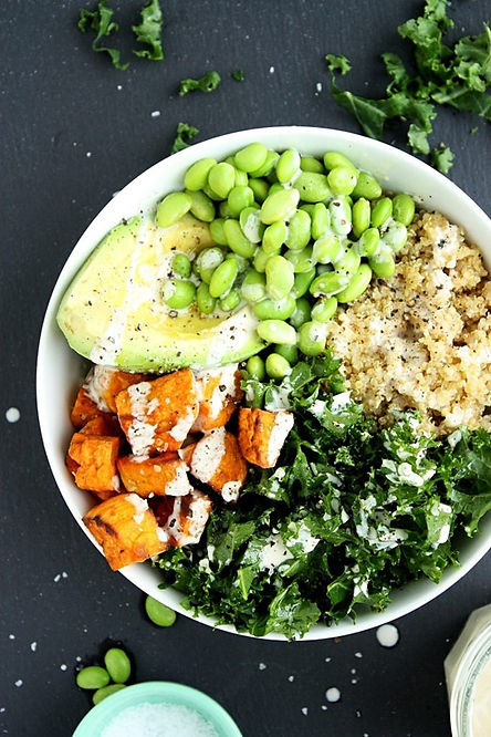 Kale Quinoa Sweet Potato Buddha Bowl