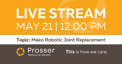 Mako Robotic Joint Replacement Live Stream