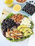 Grilled Chicken Blueberry Feta Salad with Lemon Poppy Seed Dressing