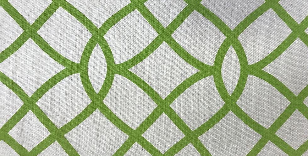 Grass Green - Oatmeal background Geometric