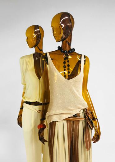 Transparent mannequins