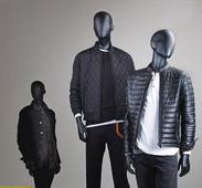 Bonami mannequins_Fashion King collection_ heren etalagepop met abstract hoofd in verschillende posities