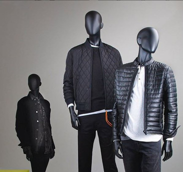 Bonami mannequins_Fashion King collection_men mannequin with abstract head in different positions