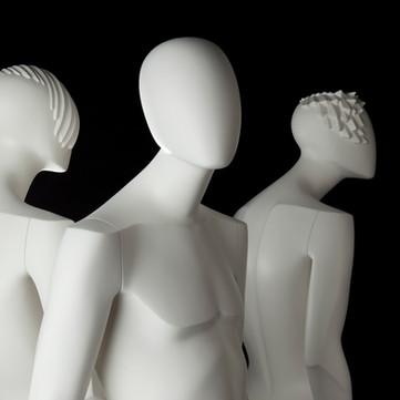 Mannequins Bonami_Collection Glamaga_Mannequins abstraits masculins_Têtes différentes