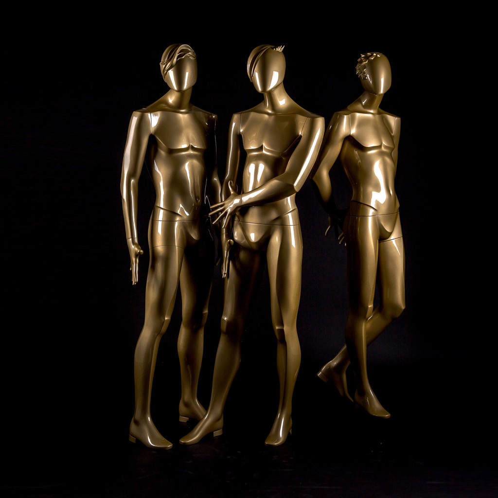 Bonami mannequins_Glamaga collection_male abstract mannequins_gold finish