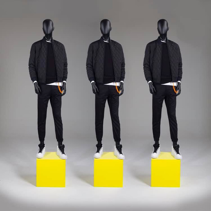 Bonami mannequins_Fashion King collection_men mannequin with abstract head in colour black