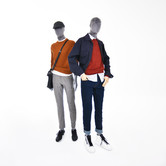 Bonami mannequins_Future collection_sustainable male mannequins covered with grey velvet