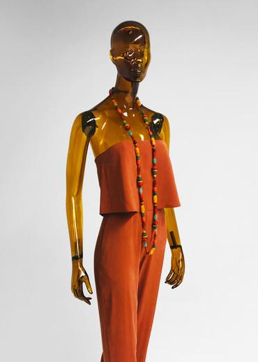Transparent mannequin for clothes