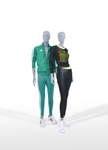 Bonami mannequins_collection future mannequin_finish raw concrete_unbreakable and recyclable mannequin_sportwear