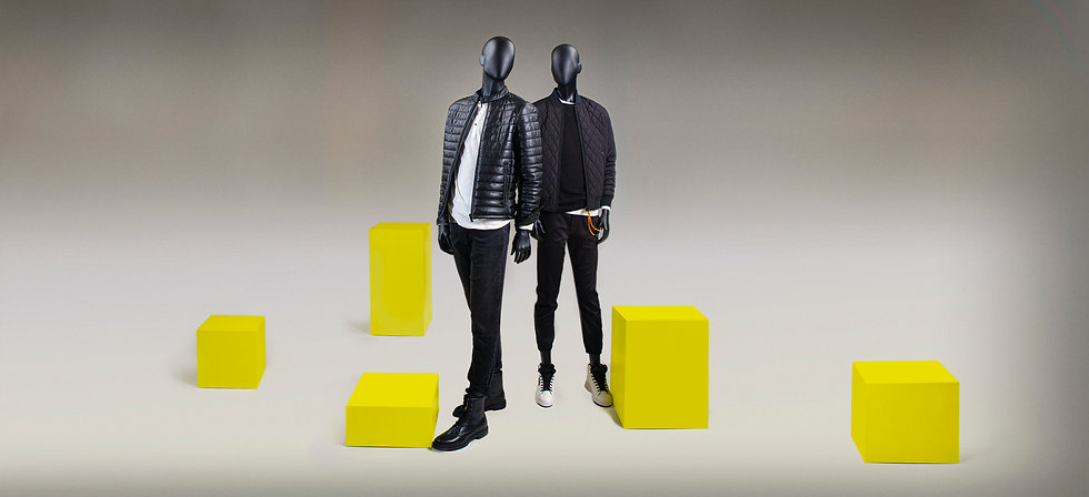 Mannequin display figurs for men