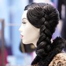 Bonami mannequins_Stylewalk collection_ Mannequin femme tête abstrac avec maquillage et perruque