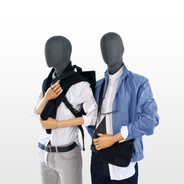 Bonami male mannequins covered with grey fabric