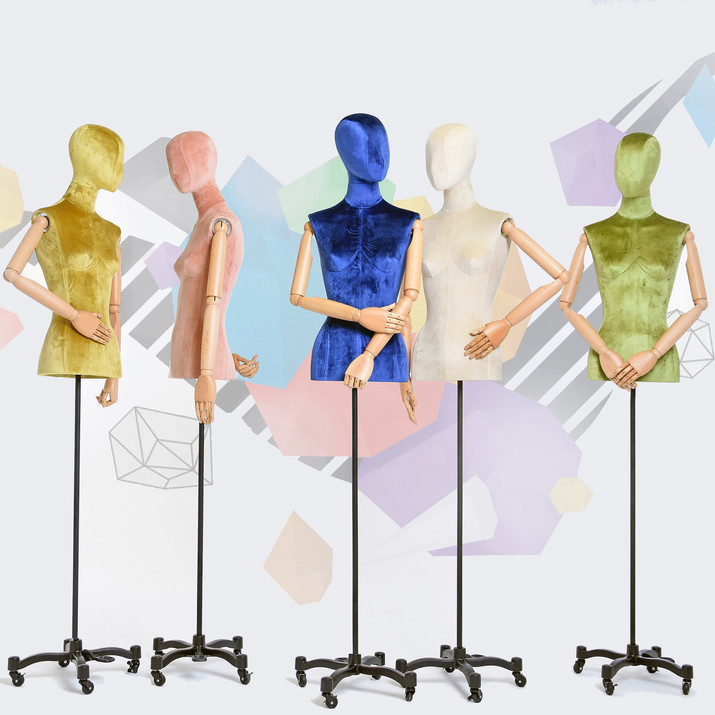 Bonami mannequins_busts covered with fabric_tailor busts_different finishes