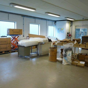 Packaging area of the mannequins