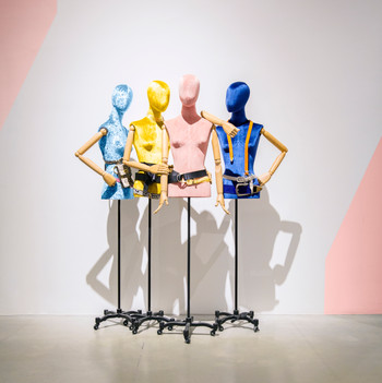 Bonami mannequins_busts covered with fabric_tailor busts_different positions