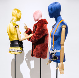 Bonami mannequins_busts covered with fabric_tailor busts_base