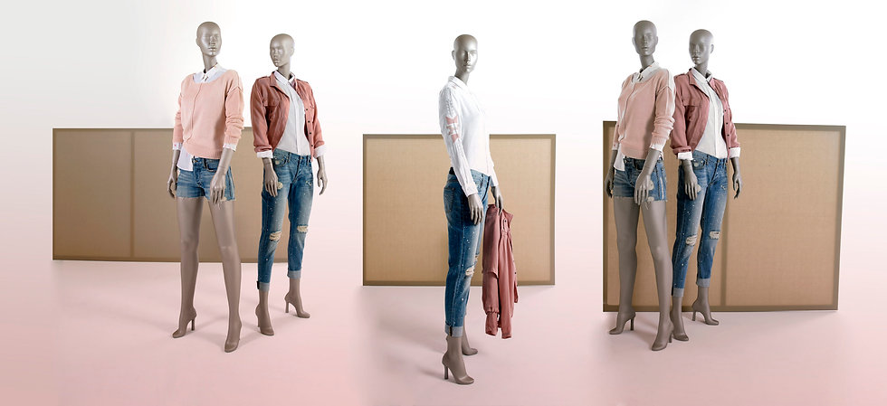 Clothing display for women