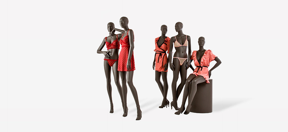 Female display mannequins with the perfect fit for lingerie