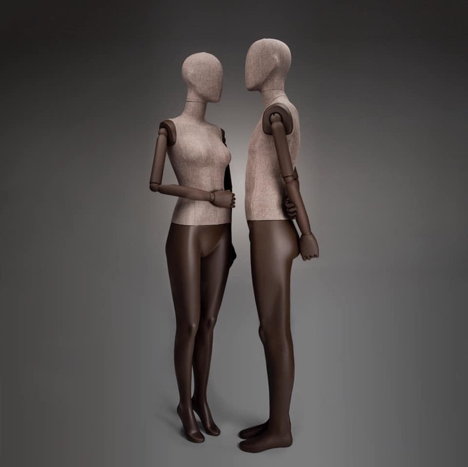 Bonami mannequins_Female Simplicity collection covered with fabric