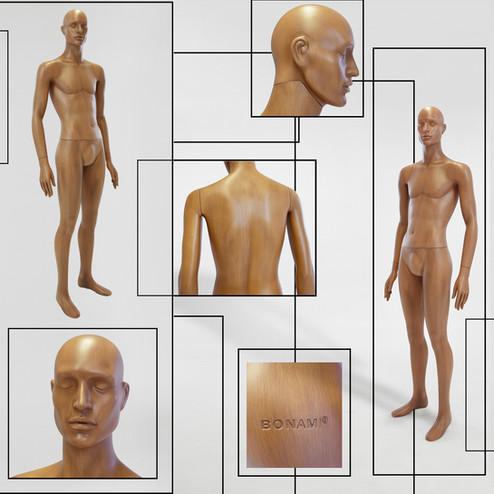 Bonami mannequins_Collectie Omnia_heren mannequin abstract