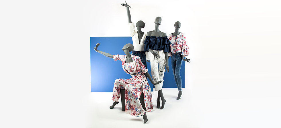 Outstanding mannequins for womenswear