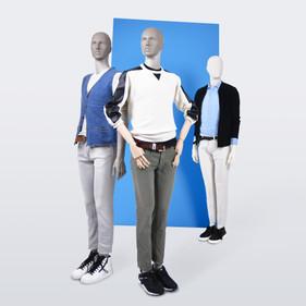 Mannequin Bonami_Collection Simplicity_Mannequin homme avec bras mobiles en bois