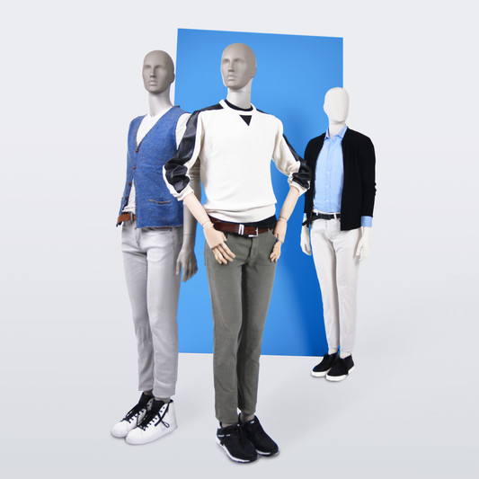 Bonami mannequins_Collection Simplicity_male mannequin with wooden movable arms