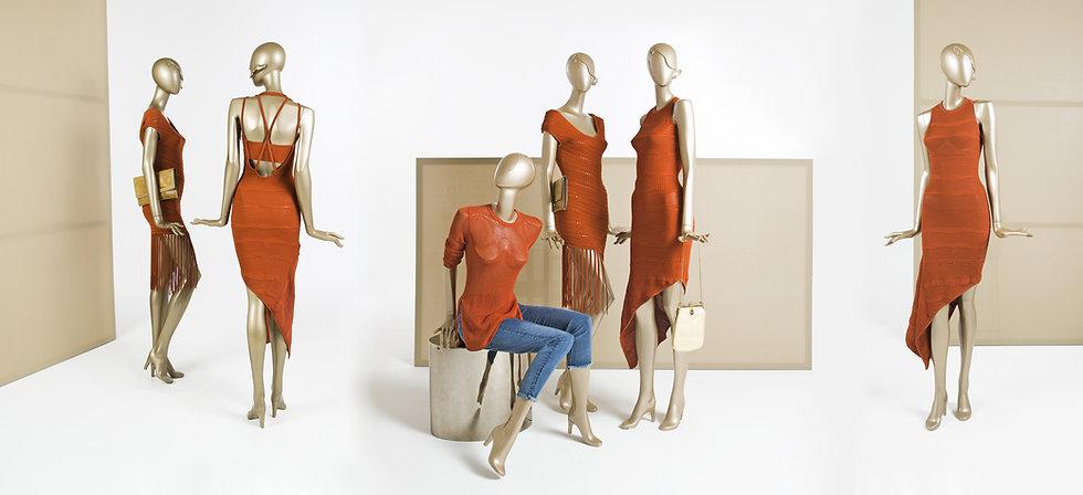 Elegant fashion mannequins for womenswear