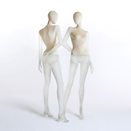 Bonami mannequins_Collection Shiki_Female abstract collection_transparent covered with velvet