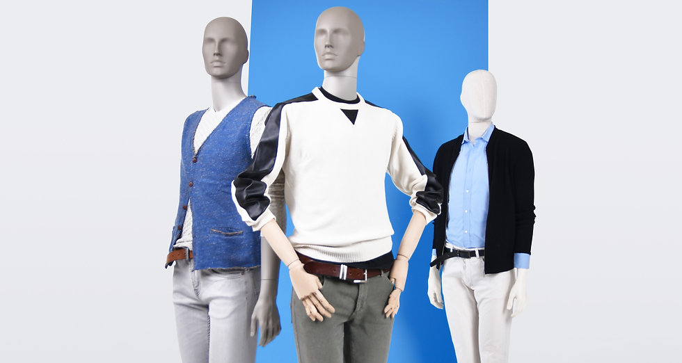 Simple male mannequins