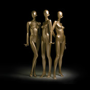 Bonami mannequins_Collection glamaga_abstract vrouwelijke etalagepop in goud