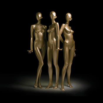 Bonami mannequins_Collection glamaga_abstract female mannequin in gold
