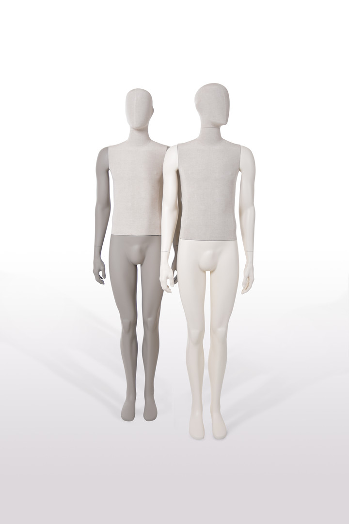 Bonami mannequins_Collection Simplicity_male mannequin with detachable head and covered with lin