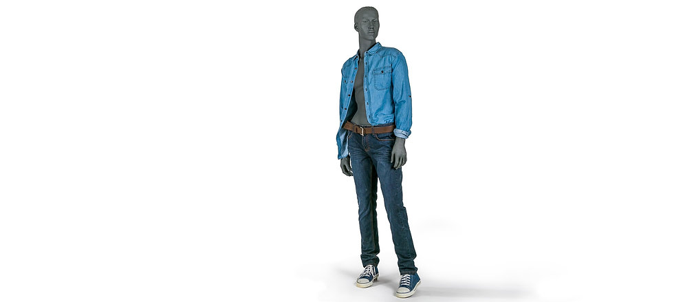 Young male fashion mannequin
