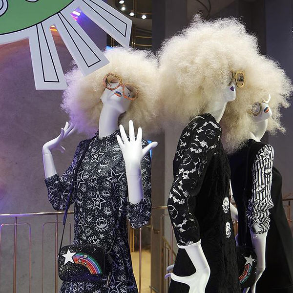 White mannequins with white wigs