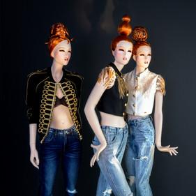 Bonami mannequins_Fashion Queen Phantasie_vrouwelijke mannequins met make-up en pruik