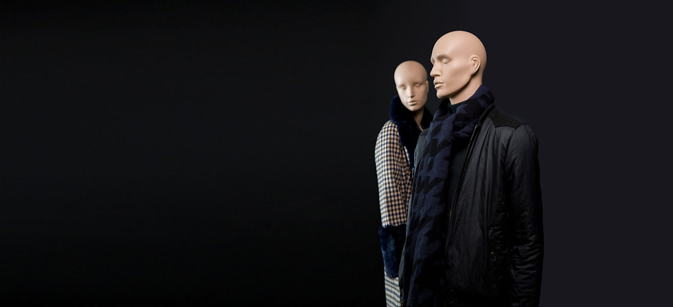 Male store window mannequin with head