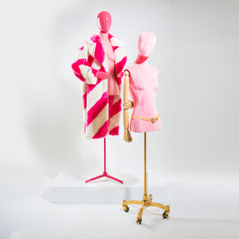 Bonami mannequins_busts covered with fabric_tailor busts_wheelchair