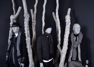 Bonami mannequins_collection future mannequin_finish raw concrete_unbreakable and recyclable mannequin_different positions