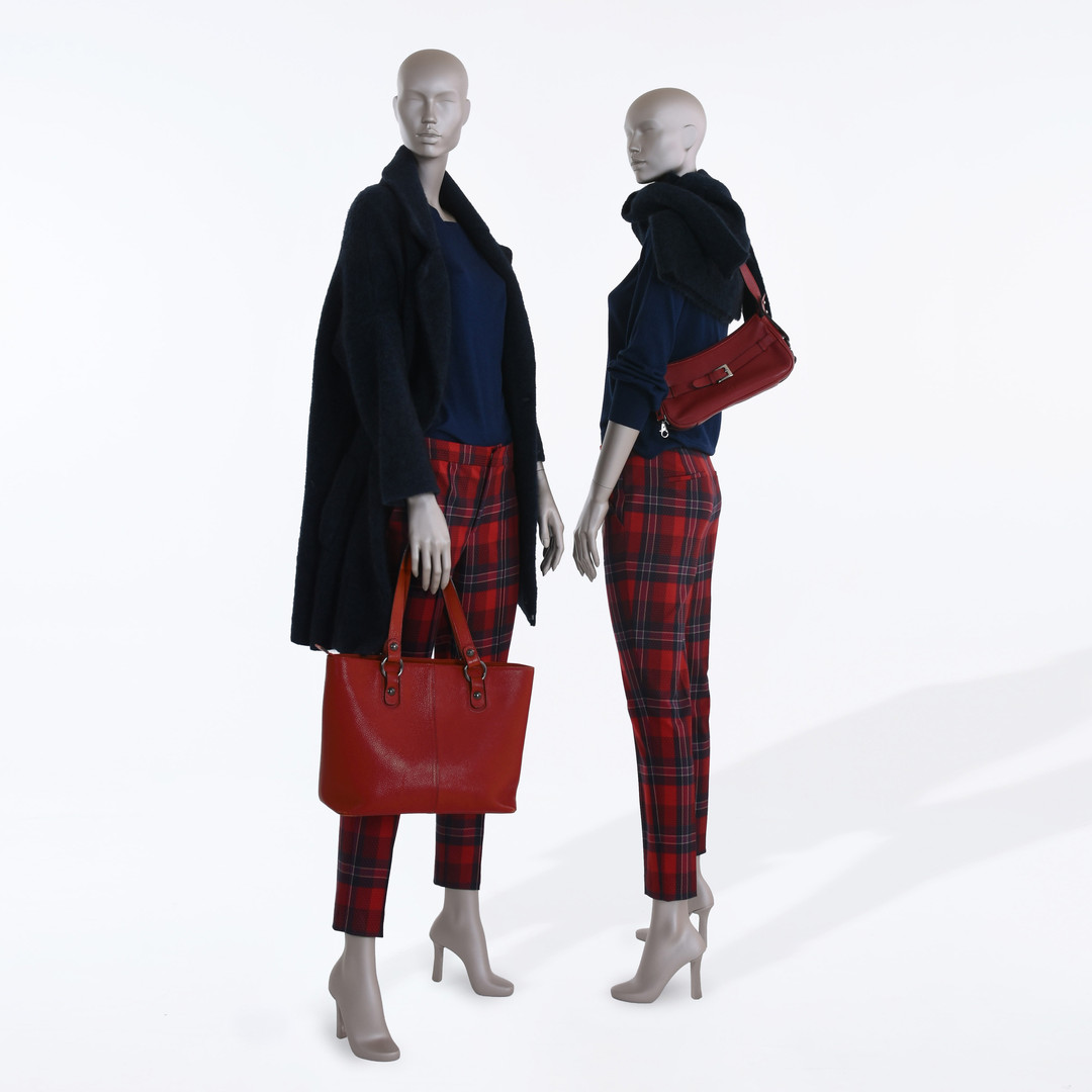 Femia female mannequins with abstract head and heels