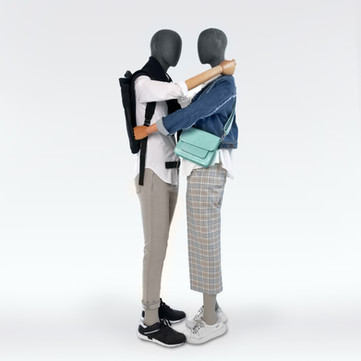 Bonami sustainable future mannequins covered with grey fabric