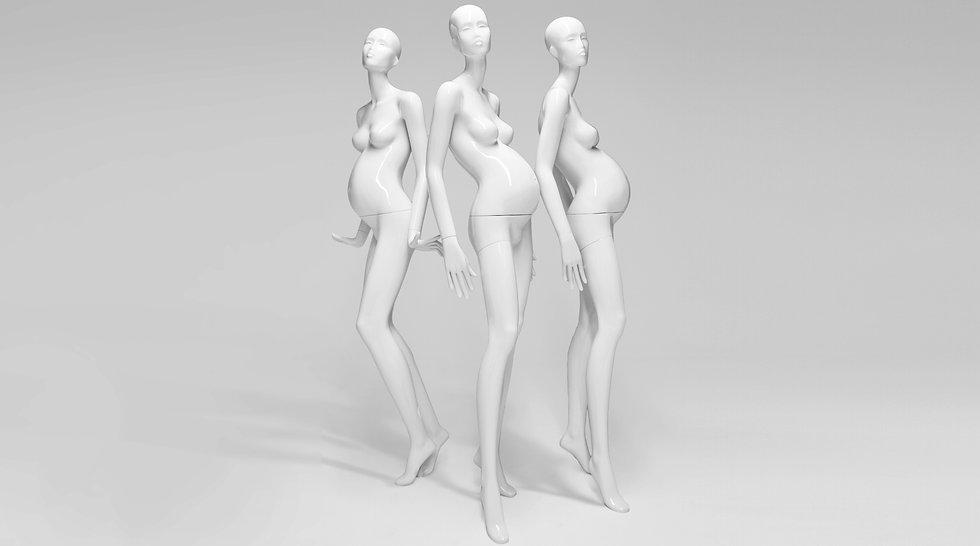 Preganant mannequin figure