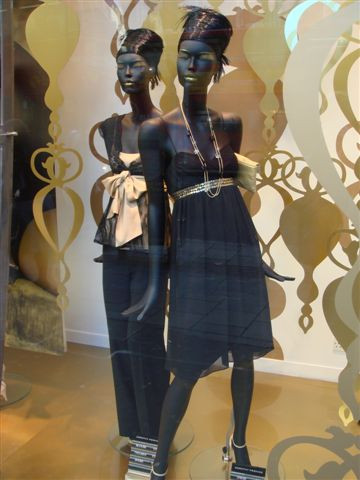 black window mannequins
