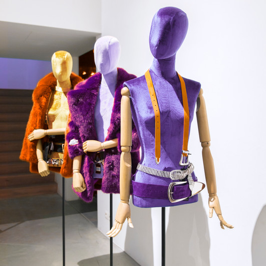 Bonami mannequins_busts covered with fabric_tailor busts_colourful