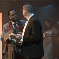 Stewart Arnott as Judge Brack, Ray Strachan as Elliot Lovborg, Ian Farthing as George Tesman, and Lauren Brotman as Hedda Gabler