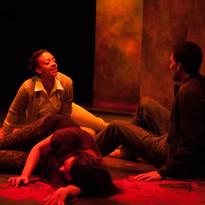 Beryl Bain as Amelia, Lauren Brotman as Jo, and Kaleb Alexander as Jason