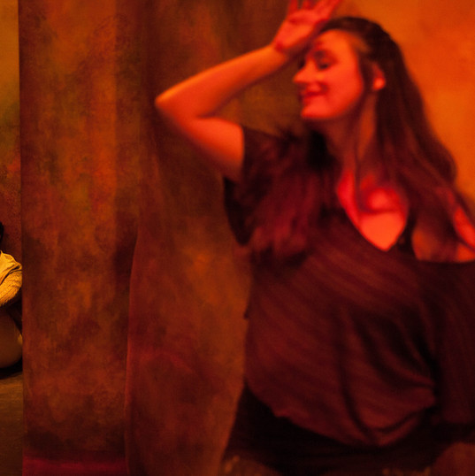 Beryl Bain as Amelia and Lauren Brotman as Jo