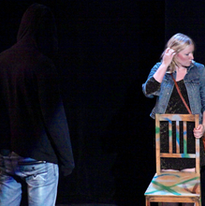 Jamie Maczko as Fred and Tina Fance as Pam