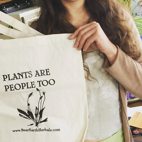 Plants are People Too canvas bag